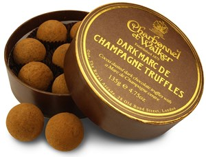Charbonnel et Walker Dark Chocolate Champagne Truffles - Chocolate Trading Company