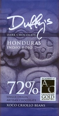 Honduras Indio Rojo, 72% dark chocolate bar
