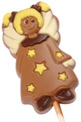 Chocolate angel lollipop