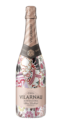 Vilarnau Cava Rose in Pink Sleeve design