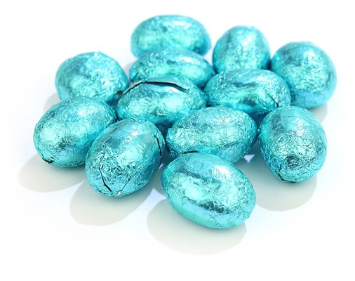 Blue Foiled Mini Easter Eggs