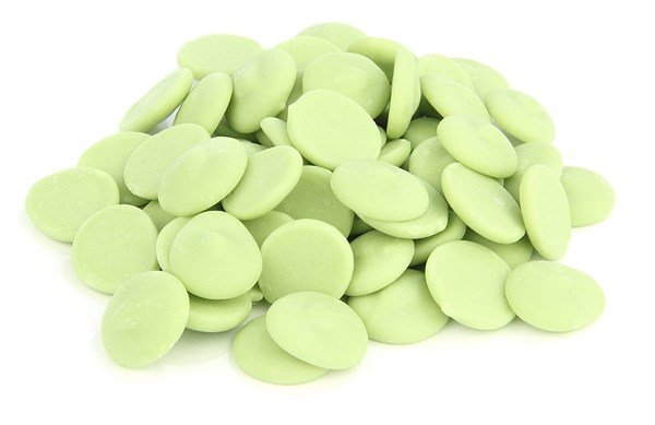 Green chocolate chips (lemon flavoured)