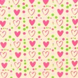 Pretty hearts, chocolate transfer sheets