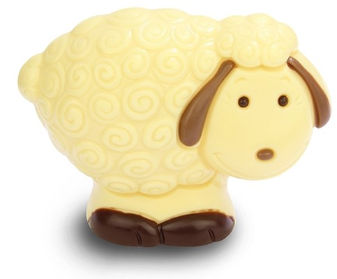 White chocolate Easter lamb