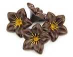 Dark chocolate flowers (lillies)