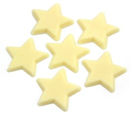 White chocolate star cake decorations