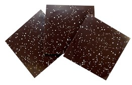 Speckled dark chocolate panels