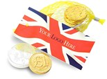 Union Jack net of chocolate coins