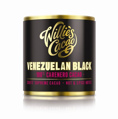 Willies Venezuelan Black Caranero Superior 100% cocoa