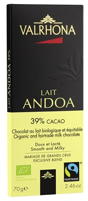 Valrhona, Andoa Lait, milk chocolate bar