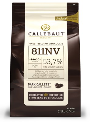 Callebaut 53% dark chocolate couverture chips