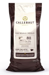 Callebaut, 54% dark chocolate chips (callets) 10kg