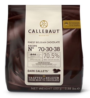 Callebaut dark chocolate chips (callets) 70% 400g