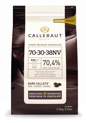 Callebaut 70% dark chocolate chips 2.5kg
