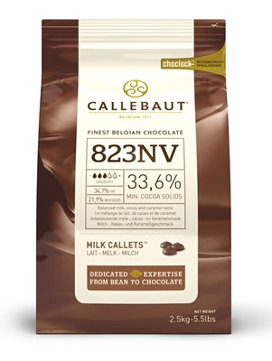 Callebaut, milk chocolate couverture chips 2.5kg