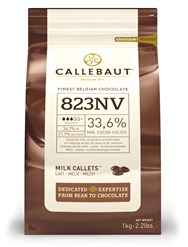 Callebaut, milk chocolate couverture chips 1kg