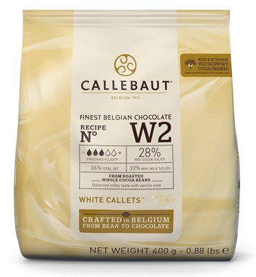 Callebaut white chocolate chips (callets) 400g