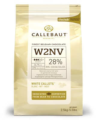 Callebaut white chocolate couverture chips