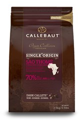 Callebaut, single origin Sao Thome 70% dark chocolate chips (callets)