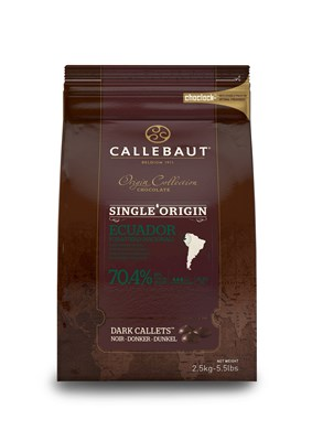 Callebaut, single origin Ecuador 70.4 % dark chocolate chips