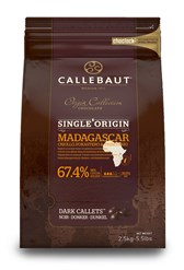 Callebaut, single origin Madagascar 67.4% dark chocolate chips (callets)