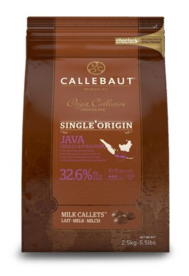 Callebaut, single origin Java 32.6% milk chocolate chips