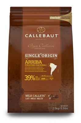 Callebaut, single origin Arriba milk chocolate chips (callets)