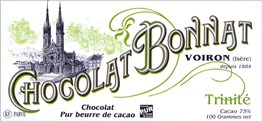 Bonnat, Trinite, 75% dark chocolate bar
