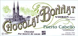 Bonnat, Puerto Cabello, 75% dark chocolate bar
