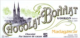 Bonnat, Madagascar, 75% dark chocolate bar