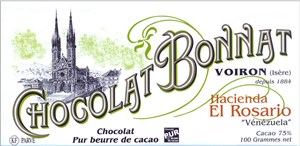 Bonnat Hacienda El Rosario 75 dark chocolate bar