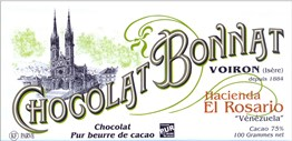 Bonnat, Hacienda El Rosario, 75% dark chocolate bar