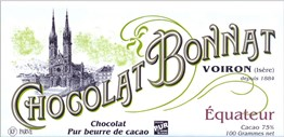 Bonnat, Equateur, 75% dark chocolate bar