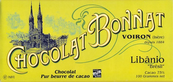 Bonnat, Libanio, 75% dark chocolate bar