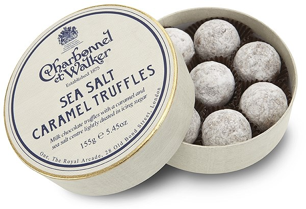 Charbonnel et Walker Sea salt caramel chocolate truffles - Chocolate ...