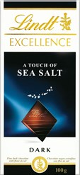 Lindt Excellence Dark chocolate with Sea Salt bar
