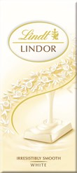 Lindt Lindor white chocolate bar