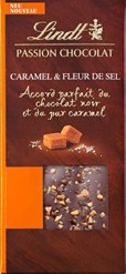 Lindt, Dark chocolate with caramel and sea salt bar