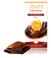 Lindt Creation, dark chocolate with orange bar
