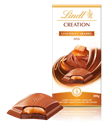 Lindt Creation, milk chocolate with caramel bar
