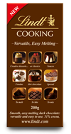 Lindt 51% dark cooking chocolate bar