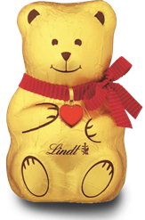 Lindt Christmas chocolate bear