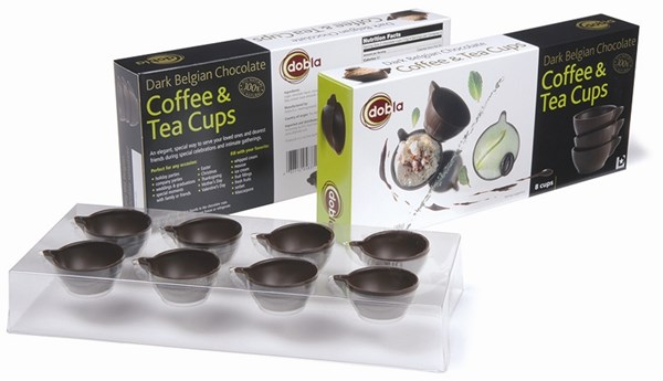 Chocolate coffee & tea cups