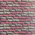 Happy Birthday chocolate transfer sheets