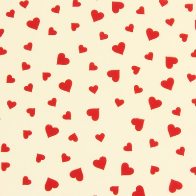 Red hearts chocolate transfer sheets