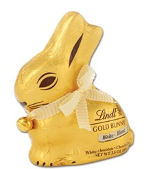 Lindt gold Easter bunny in white chocolate 100g