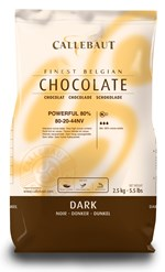 Callebaut 80% dark chocolate couverture chips