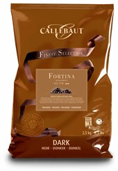 Callebaut, Fortina, dark chocolate couverture chips