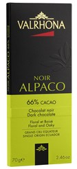 Valrhona Alpaco dark chocolate bar