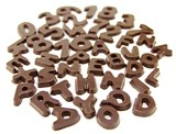 Chocolate letters & numbers